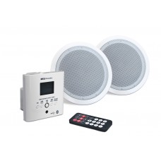 2x5W USB / FM / BLUETOOTH wall amplifier + 2 5 '' ceiling speakers MARK MWP1